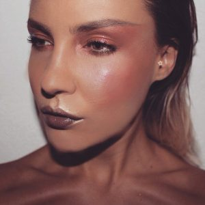 fashion makeup effet brillant